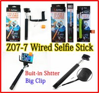 Wired Z07- 7 Selfie stick Monopod Handheld Extendable groove ...