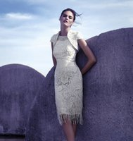 Custom Made Lace Mother Dresses Scoop Short Sleeves Carla Ru...