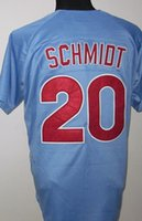 2015 new Phillies #20 Schmidt Stitched Blue Throwback Jersey...
