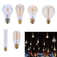 Indoor Retro DIY E27 spirale incandescente Light Fixtures Vetro Edison della lampadina 40W 220V Lampade a sospensione L0295 L0296 L0297 L0298 L0299 L0300