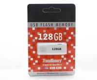 60pcs / lot 2014 de DHL 64 GB 128 GB USB 2.0 pluma de memoria Flash Drive Unidades palillo palillos Pendrives Thumbdrive Blanco Nuevo