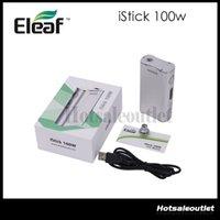 Huge Stock! Išmoka Eleaf iStick Kit complet 100W išmoka 100w Box Mod Fit 18650 Batterie 100% authentique
