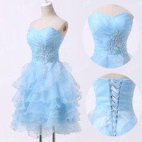Grace Karin New Sky Blue Masquerade Homecoming Gown Cocktail...