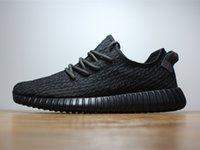Kanye Boost Black 350 Moonrock Running Shoe 2016 Fashion Sne...