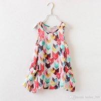 2014 Summer Fashion Children Casual Rhombus Sleeveless Chiff...