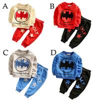 4 Color Boy INS Batman Suits 2016 new children Long sleeve T...