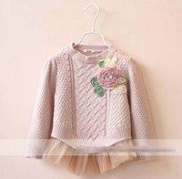 Princess Girls Sweater Flower Winter Fall Long Sleeve Floral...