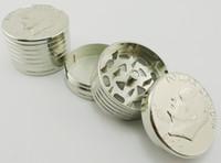 5pcs/lot-UNIS dollar de fumer moulin broyeur d'herbe tabac meuleuse d'Europe Dollar moulin