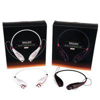 Bluetooth Headset S740T Sport casque sans fil Oreillette Bluetooth V3.0 casque pour carte Iphone Samsung FM TF Fonction Neckband US03
