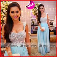 Pearls Prom Evening Dresses 2015 Fashion Scoop Neckline Wide...