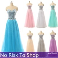 2015 Champagne Coral Lilac Long Prom Dresses Long Sequins Ma...