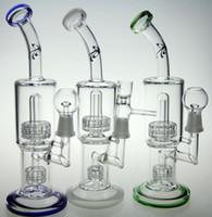 New toro Bong en verre pipe à eau en verre barboteur en verre toro plate-forme pétrolière avec clou de verre dôme et bol conduites d'eau