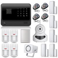 G90B WiFi Интернет сигнализация GSM GPRS SMS OLED Главная Дом охранной сигнализации Система APP Control + IP WiFi камеры App интегрированы в App Alarm