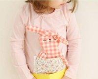 baby girl kids long sleeve cute 3D rabbit bunny dress cotton...