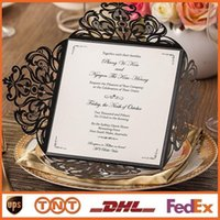 Laser Cut Wedding Invitations White Paper Blank Inner Sheet ...