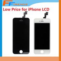 Pour iPhone 5 5C 5S écran LCD écran tactile Digitizer Full Assembly avec écouteur Anti-Dust Mesh Free installé Prix pas cher 50pcs / lot