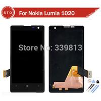 Vente en gros-pour Nokia Lumia 1020 écran LCD avec écran tactile numériseur écran LCD + outils Livraison gratuite