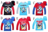 Minecraft New style Boys TShirts Cartoon printed Long sleeve...