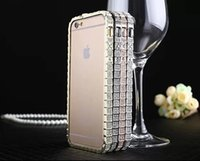 Snake Diamond Inlay Metal Bumper Frame Case for iPhone 6 4. 7...