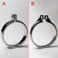 Male Chastity Belt Cock Rings Metal Bondage Gear For Men Pen...
