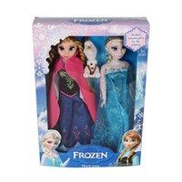 frozen Elsa Anna Olaf Snowman Set Playset Dolls 12 Movable J...