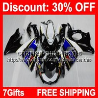 7gifts Blue Black Full Fairing Kit For SUZUKI GSX- R1000 GSXR...