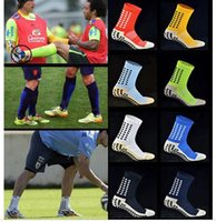 New anti slip soccer socks 12 colors fashion men trusox Mid-...