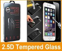 Para Galaxy S6 borde claro templado vidrio pantalla Protector Film Iphone 6 Iphone 6 Plus 0,26 mm vidrio tratado para iPhone 5 galaxy S5 caja