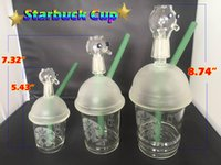 Starbucks Glass Cup Glass Dab Rigs 14mm 18.8mm Joint mâle Starbucks Cup Oil Rigs Glass Bongs Starbucks bong Pipe Oil Rig Recycler