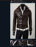 Christmas Men PU Leather Jackets Men Leather Jackets Mens mo...