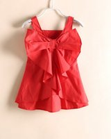 Girls Dresses 2015 Summer Kids Lovely Bowknot Party Dress Ch...