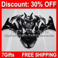 7gifts ALL Black Full Fairing Kit For KAWASAKI NINJA ZX- 6R 0...