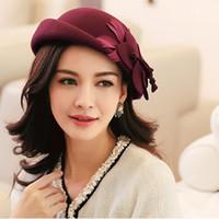 Wholesale- 2015 new arrival autumn winter fashion flower Wool...