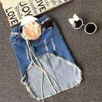 Girls Denim short skirts 2015 New baby girls fashion package...