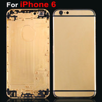 For iPhone 6 Customized 24Kt Gold Plated Back Housing Cover ...