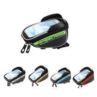 """Impermeabile Mountain Road Bike Bag frontale superiore Struttura manubrio bicicletta sacchetto della bicicletta il sacchetto Touchable per 5.5 """"pollici cellulare Y0663"""