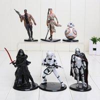 6Pcs Set 5. 5- 10. 5cm Star Wars Figures Darth Maul Darth Vader...