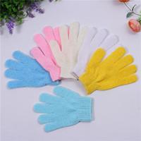 100Pcs lot Exfoliating Bath Glove Five fingers Bath Gloves