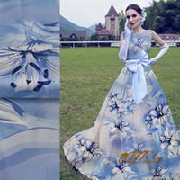 Blue Silk Organza Fabric
