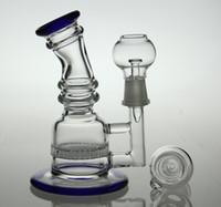 NOËL en Verre bong Mini pipe à eau hoey peigne perk recycleur bong avec 14.4 mm mâle mixte