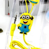 One Pcs 3D Despicable Me Minions Headphone 3. 5MM Earphones I...