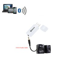 Bluetooth Audio ricevente di musica Alimentatore da auto sistema stereo Audio portatile Mini 3,5 millimetri audio USB Bluetooth Car Kit DHL V1332