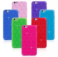 Bling Crystal Diamond Soft Gel Silicone Cover Case For iphon...
