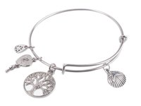 1PCS Fashion Expandable Wire Bangle Starfish Shell Charm Bra...