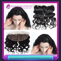 7a virgin Peruvian hair lace frontal closure 13x2 with free ...