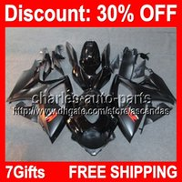 7gifts ALL Black Full Fairing Kit For SUZUKI GSX- R600 750 GS...