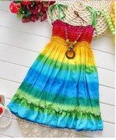 19 Style Girls Dresses 2015 Summer Girl Suspender Beach Dres...