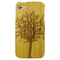 Natural Bamboo Wood Case For iPhone 4 Real Wood Bamboo Carvi...