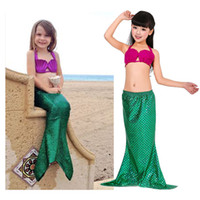 Girl mermaid tail Bikini swimwear Suits 2016 new children me...