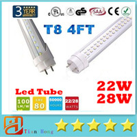 Led Tubes 4FT 4 feet T8 1200mm 22W 28W Led Light Tubes Singl...